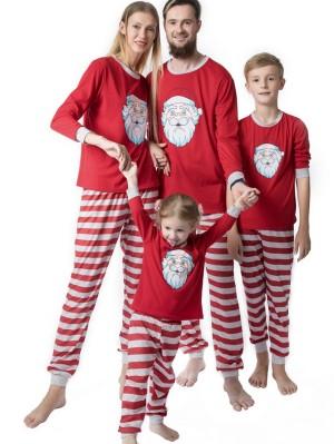 Christmas Matching Pajamas Family Santa Claus Print Pajamas Set