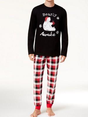 Christmas Family Matching Pajamas Set Bear Print Christmas Jammies