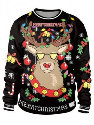 Women's Round Neck Long Sleeve Ugly Christmas Sweatshirts