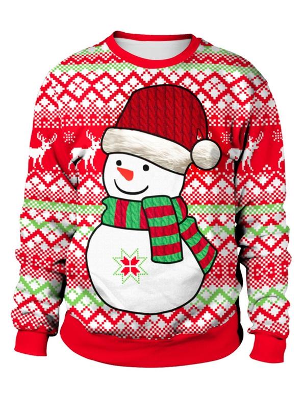 Women's Round Neck Long Sleeve Ugly Christmas Sweatshirts