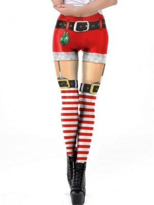 Women's Fashion Elastic 3D Print Christmas Leggings