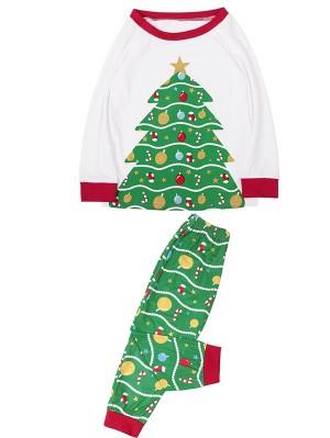 Christmas Family Matching Pajamas Set Christmas Tree Print Jammies
