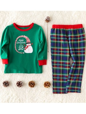 Christmas Family Matching Pajamas Santa Snowman Christmas Jammies Set
