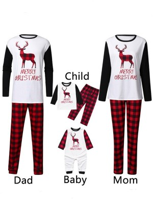 Christmas Family Matching Pajamas Deer Merry Christmas Jammies Set