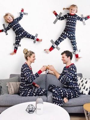 Christmas Matching Family Pajamas Deers Print Christmas Jammies Set