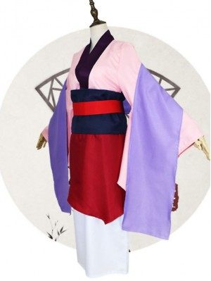 Cartoon Mulan Cosplay Costume Chinese Legend Hua Mulan Suit