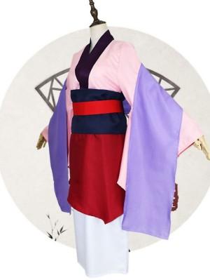 Cartoon Mulan Cosplay Costume Chinese Legend Hua Mulan Suit