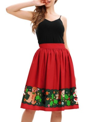 Fashion Spaghetti Strap Sleeveless Christmas Dress
