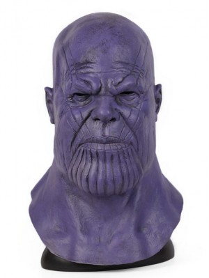 Avengers Endgame Thanos Cosplay Mask Halloween Latex Mask