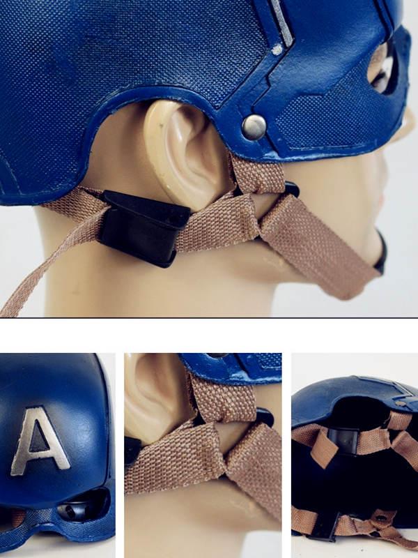Marvel Avengers Captain America Cosplay Mask Halloween PU Helmet