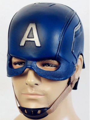 Marvel Avengers Captain America Cosplay Mask Halloween PU Helmet