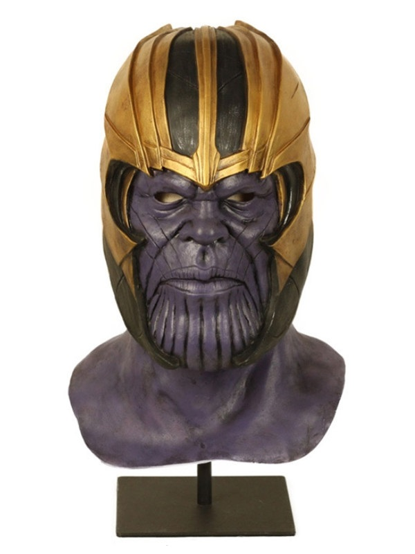 Avengers Endgame Thanos Cosplay Mask With Helmet Halloween Latex Mask