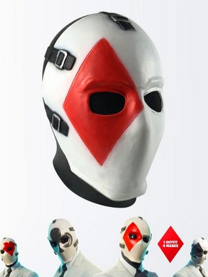 Fortnite High Stakes Poker Face Mask Halloween Cosplay Mask