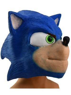Halloween Sonic Mask Natural Latex Mask