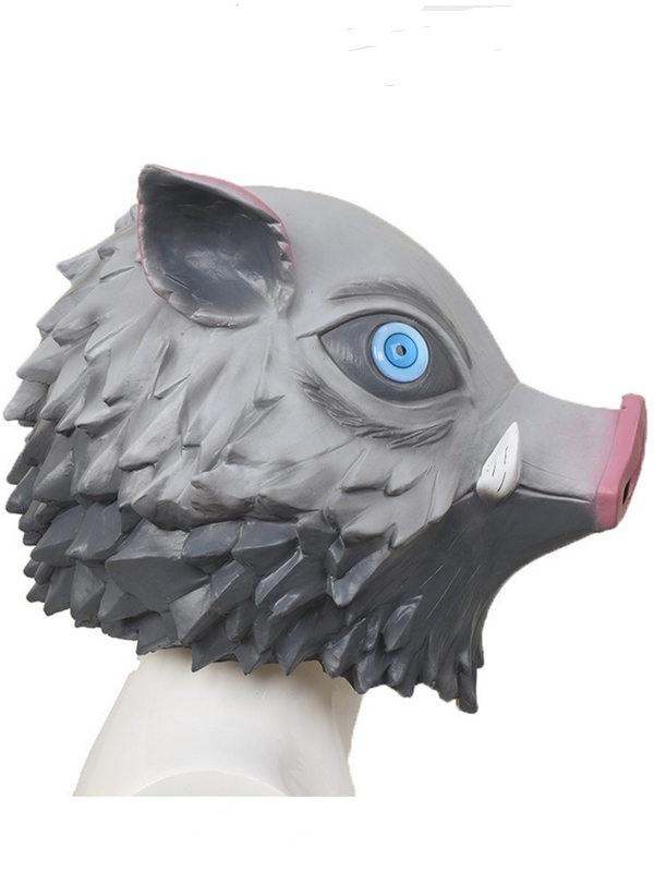 Halloween Inosuke Mask Demon Slayer Pig Face Latex Mask