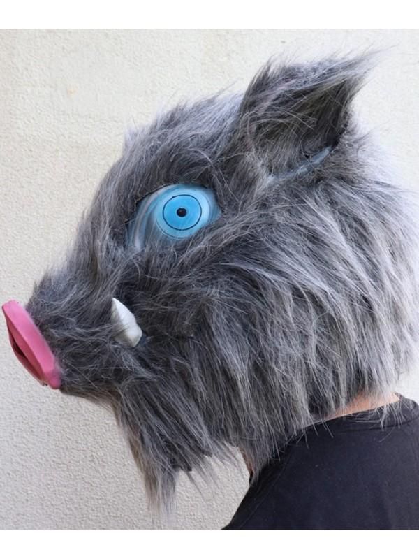 Halloween Plush Inosuke Mask Demon Slayer Latex Mask