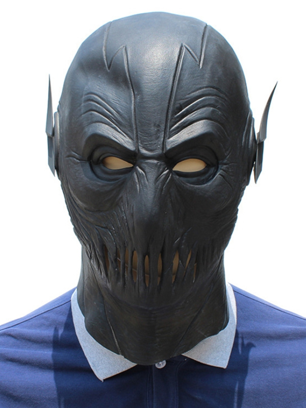 Halloween Latex The Black Flash Mask Masquerade Mask