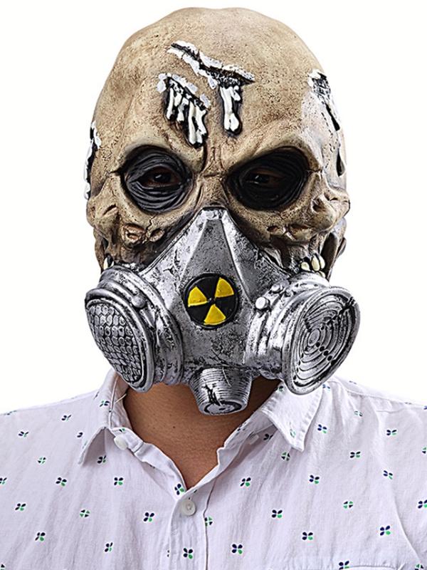 Halloween Skull Mask Demon Latex Horror Biochemical Mask
