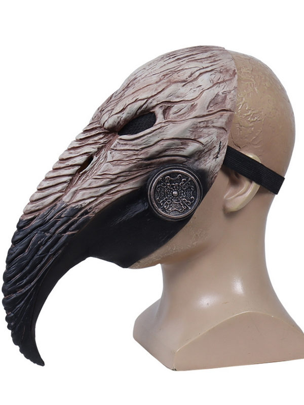 Halloween Plague Doctor Mask Steampunk Beak Latex Mask