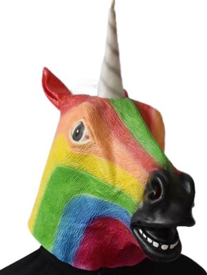 Halloween Headgear Latex Unicorn Mask