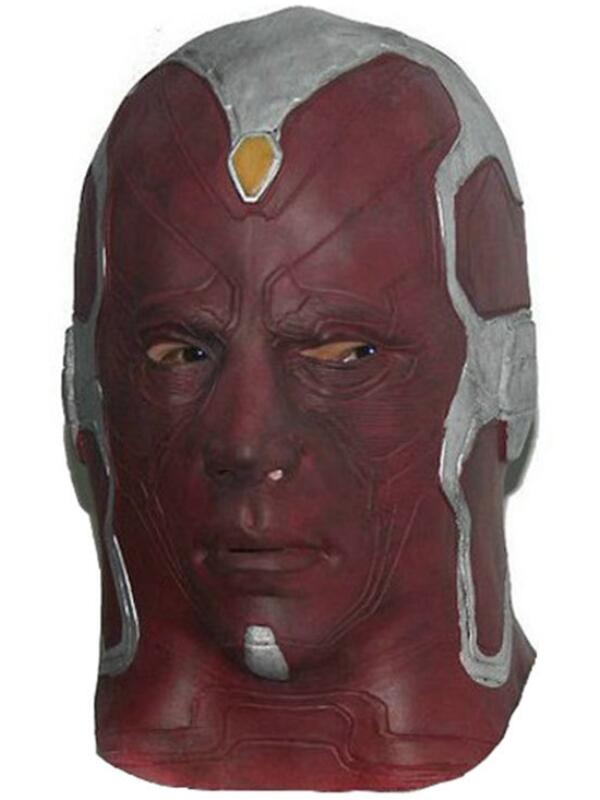 Halloween The Avengers Latex Superhero Vision Mask