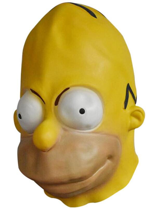 Simpsons Cosplay Mask Halloween Latex Mask
