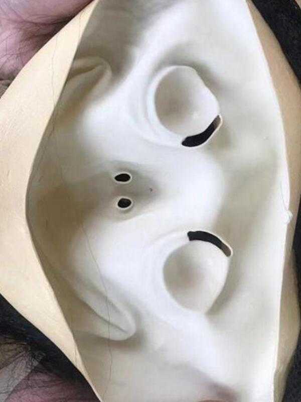 Terror Female Ghost Mask Halloween Latex Mask