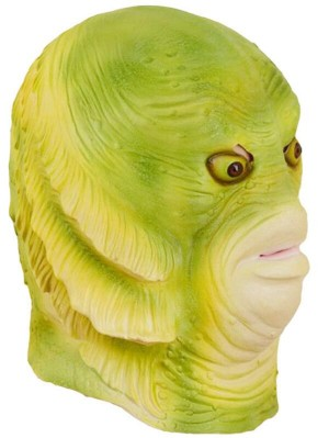 Halloween Green Fish Monster Mask Latex Animal Mask