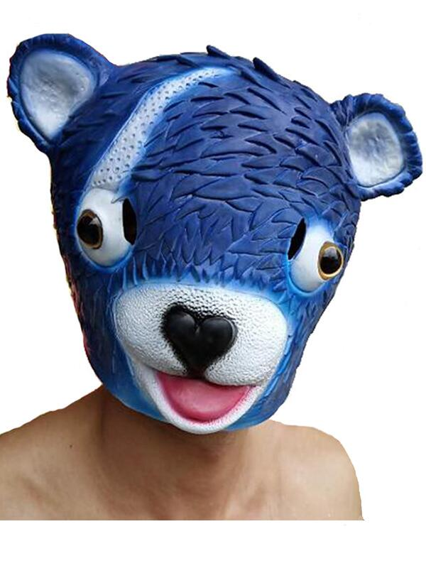 Adult Fortnite Cuddle Team Leader Mask Halloween Latex Bear Mask