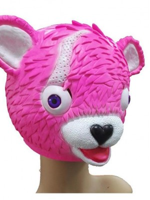 Adult Fortnite Cuddle Team Leader Mask Halloween Latex Bear Mask