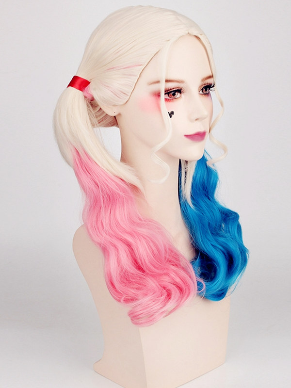 Suicide Squad Harley Quinn Cosplay Wig Gradient Anime Cosplay Wig